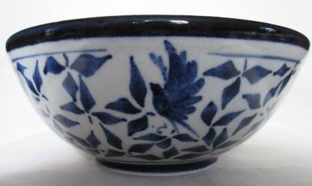 Blue & White Bird Bowl by Dianne Brady Bird_b11