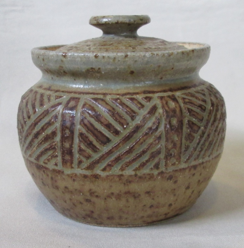 Carved lidded pot was made by Allen Jowitt Img_2617