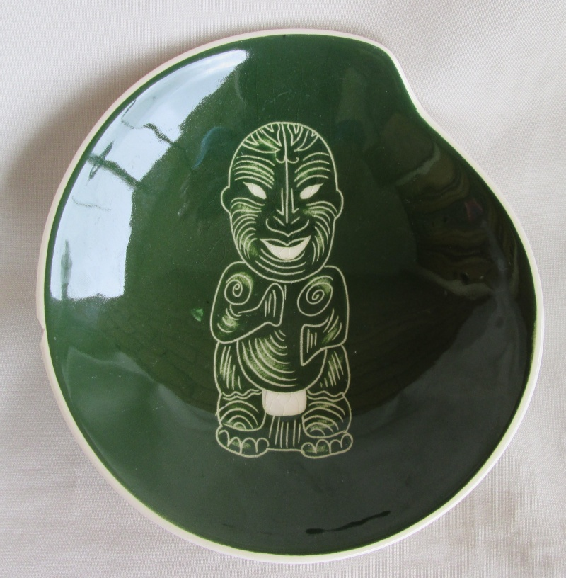 plate - Diana Pottery Tiki Plate S19 Img_2726
