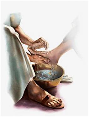 Lavage des pieds durant le seder de Pessa'h  Jesus-10