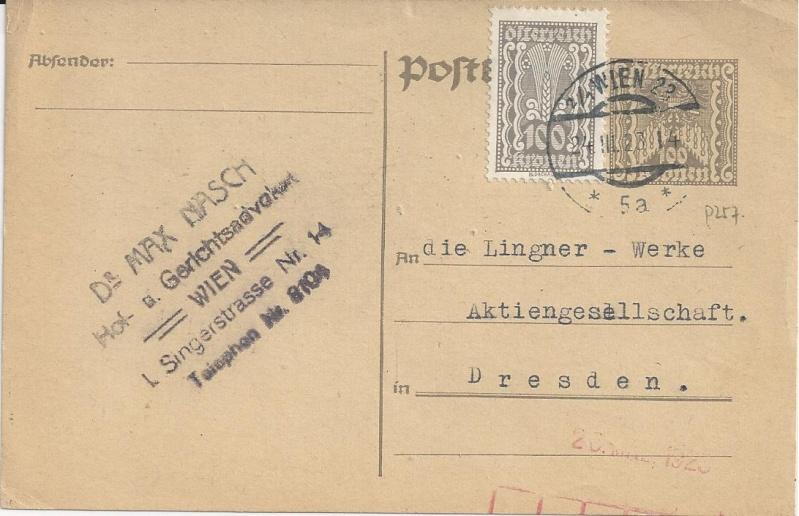 """Postkartenserie """"Quadratischer Wertstempel - Wertziffer im Dreieck"""" 1922-24 - Seite 5 Bild14"""