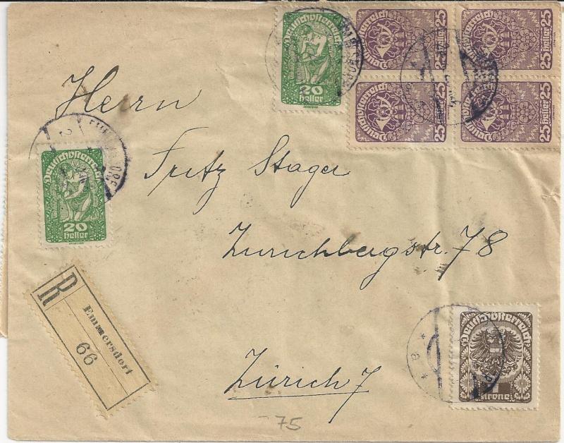 Inflation in Österreich - Belege - 1918 bis 1925 - Seite 4 Bild28