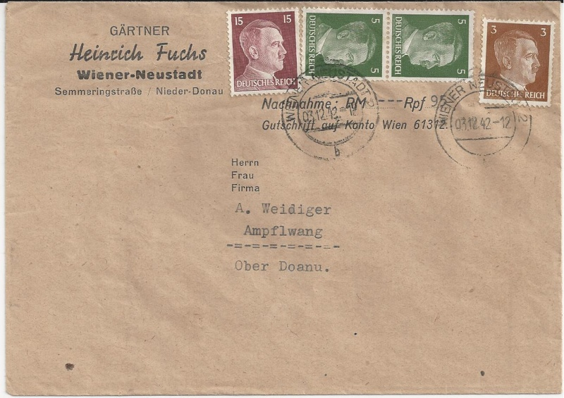 Österreich im III. Reich (Ostmark) Belege - Seite 5 Bild31