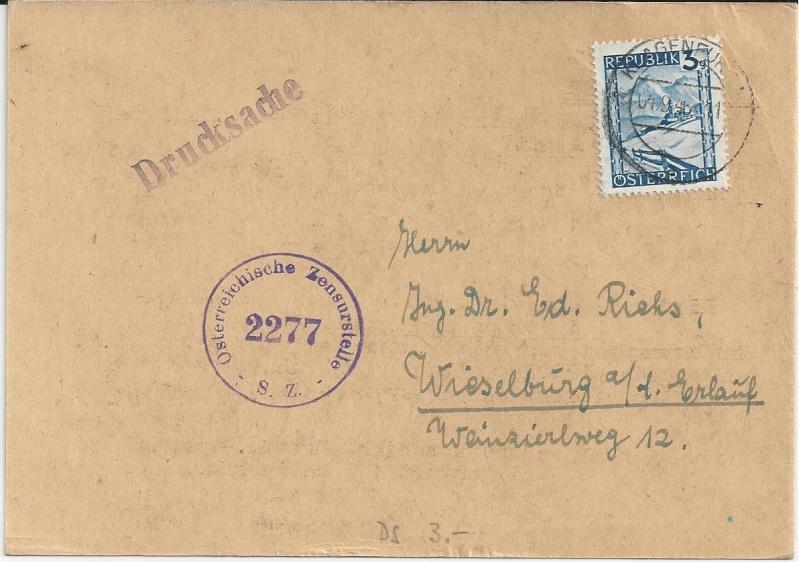 Notmaßnahmen und Provisorien bei Postkarten 1945-1948 Bild38