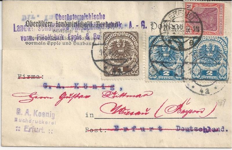 Inflation in Österreich - Belege - 1918 bis 1925 - Seite 4 Bild39