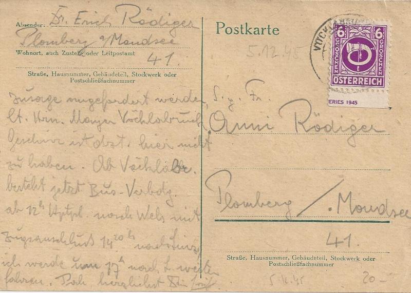 Notmaßnahmen und Provisorien bei Postkarten 1945-1948 Bild40