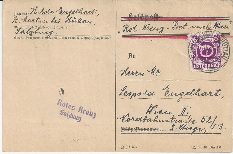 Notmaßnahmen und Provisorien bei Postkarten 1945-1948 Bild48