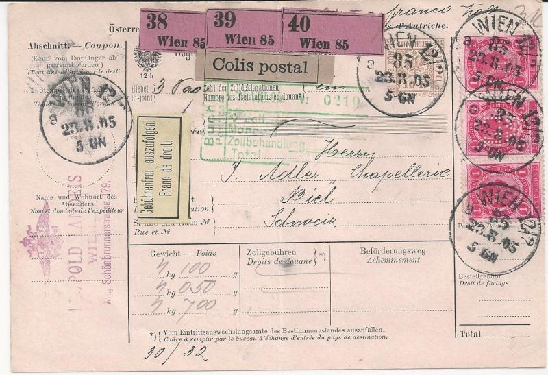 Postbegleitadressen mit fiskalischem Werteindruck Bild55