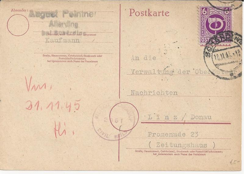 Notmaßnahmen und Provisorien bei Postkarten 1945-1948 Bild_112