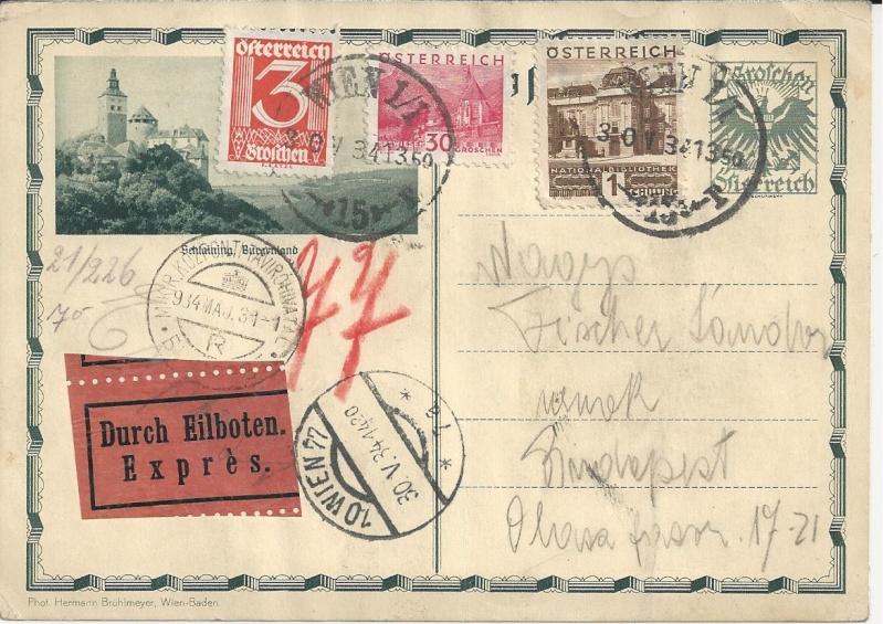 Bedarfspost Ganzsachen Österreich 1925-1938 Bild_114
