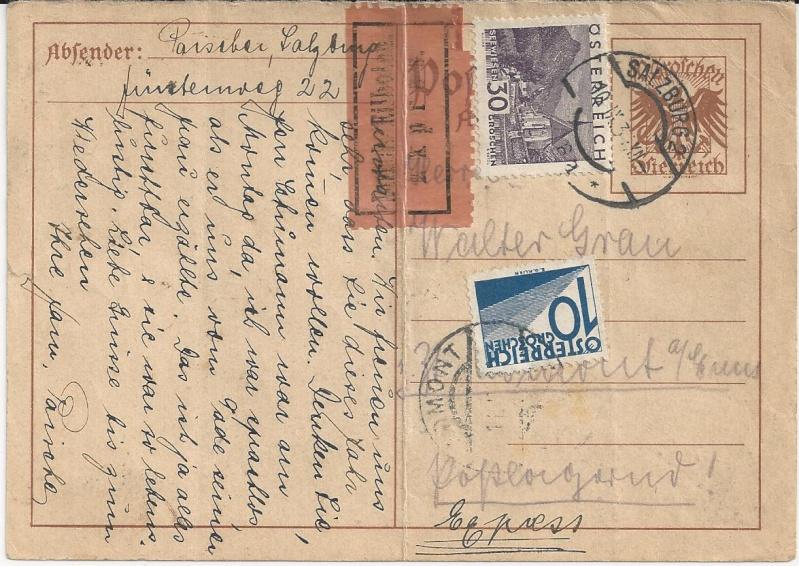 Bedarfspost Ganzsachen Österreich 1925-1938 Bild_212