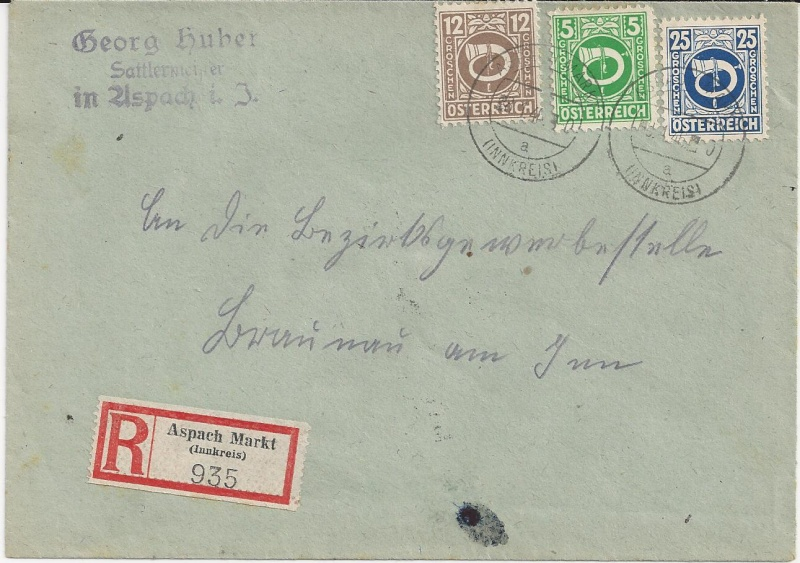 Posthornzeichnung  -  ANK 697-713  -  Belege - Seite 2 Bild_224