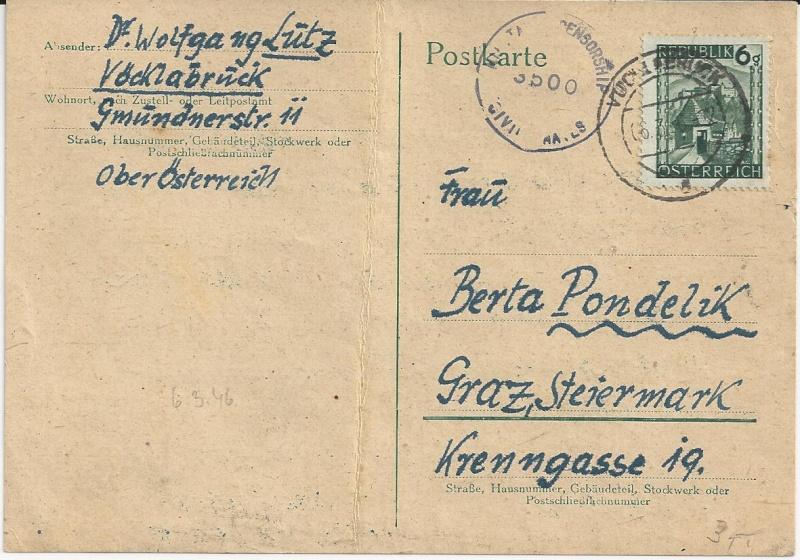 Notmaßnahmen und Provisorien bei Postkarten 1945-1948 Bild_234