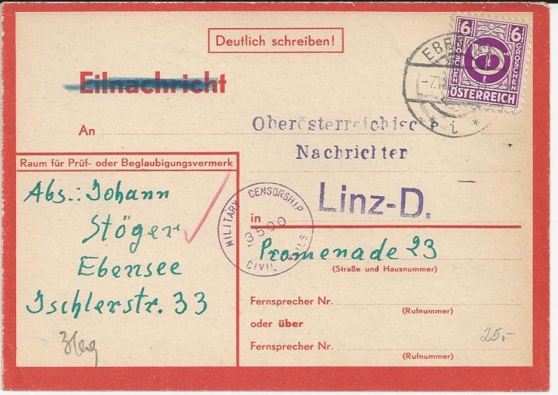 Notmaßnahmen und Provisorien bei Postkarten 1945-1948 Bild_235