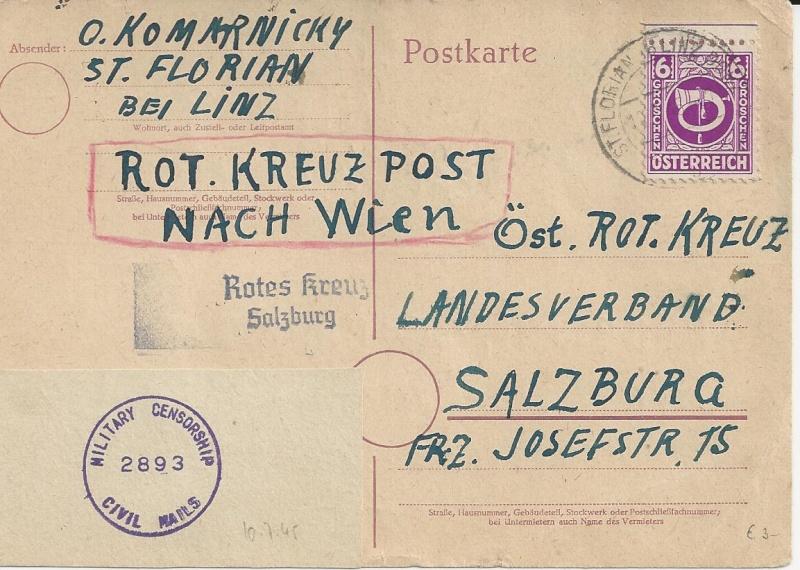 Notmaßnahmen und Provisorien bei Postkarten 1945-1948 Bild_240