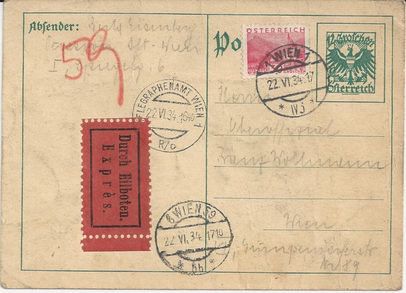 Bedarfspost Ganzsachen Österreich 1925-1938 Bild_242