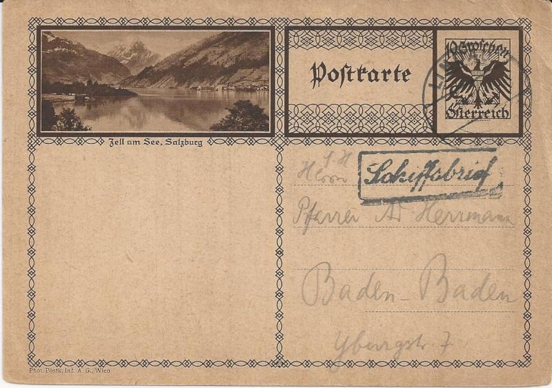 Bedarfspost Ganzsachen Österreich 1925-1938 Bild_310