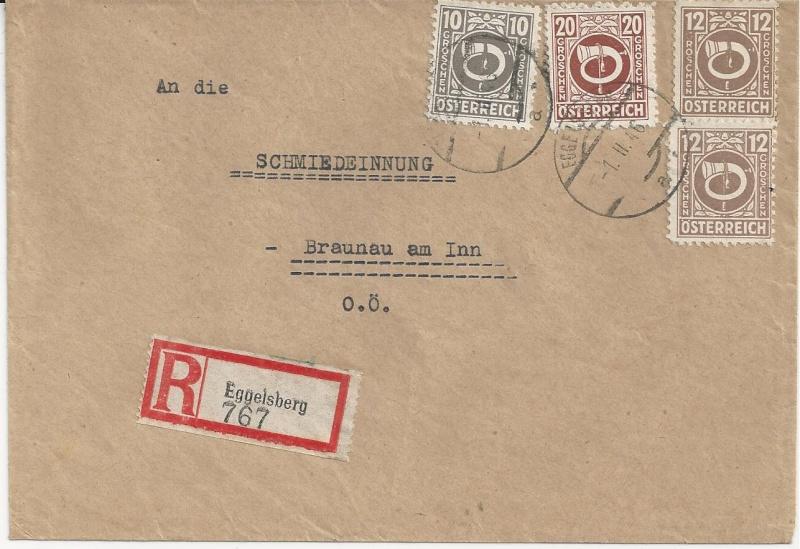 Posthornzeichnung  -  ANK 697-713  -  Belege - Seite 2 Bild_319