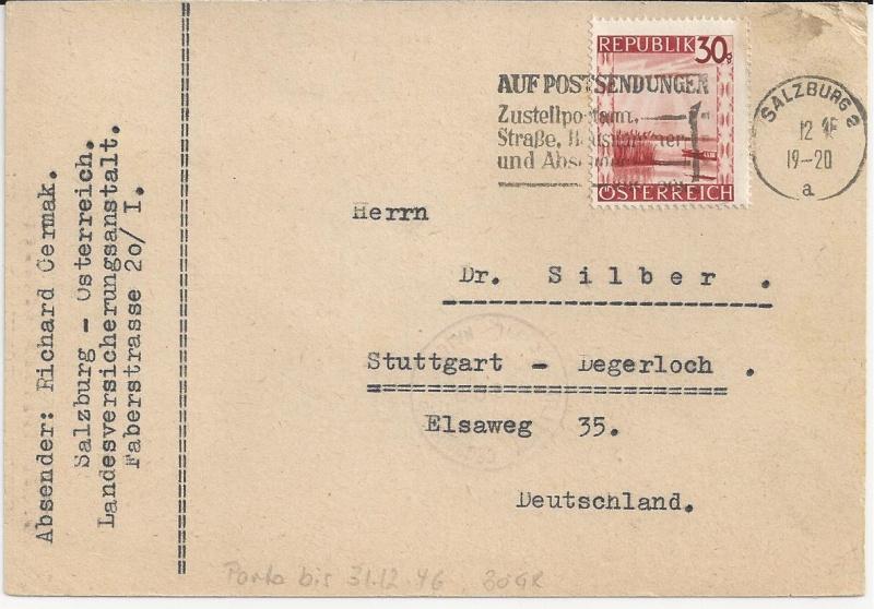 Notmaßnahmen und Provisorien bei Postkarten 1945-1948 Bild_331