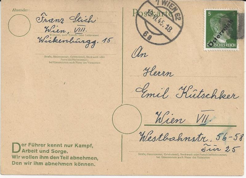 Notmaßnahmen und Provisorien bei Postkarten 1945-1948 Bild_332