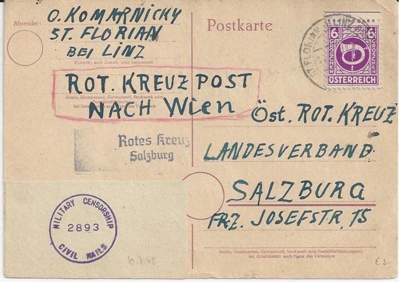 Notmaßnahmen und Provisorien bei Postkarten 1945-1948 Bild_333