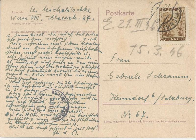 Notmaßnahmen und Provisorien bei Postkarten 1945-1948 Bild_338