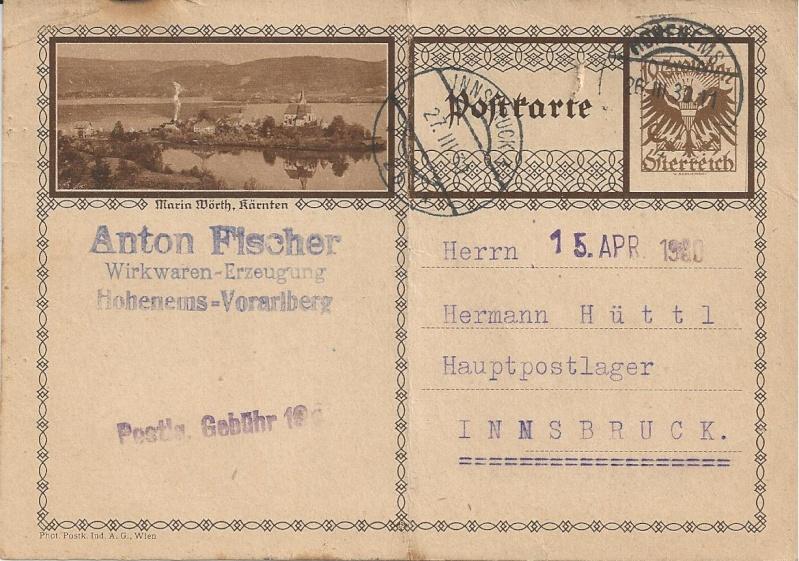 Bedarfspost Ganzsachen Österreich 1925-1938 Bild_410