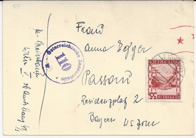 Notmaßnahmen und Provisorien bei Postkarten 1945-1948 Bild_426