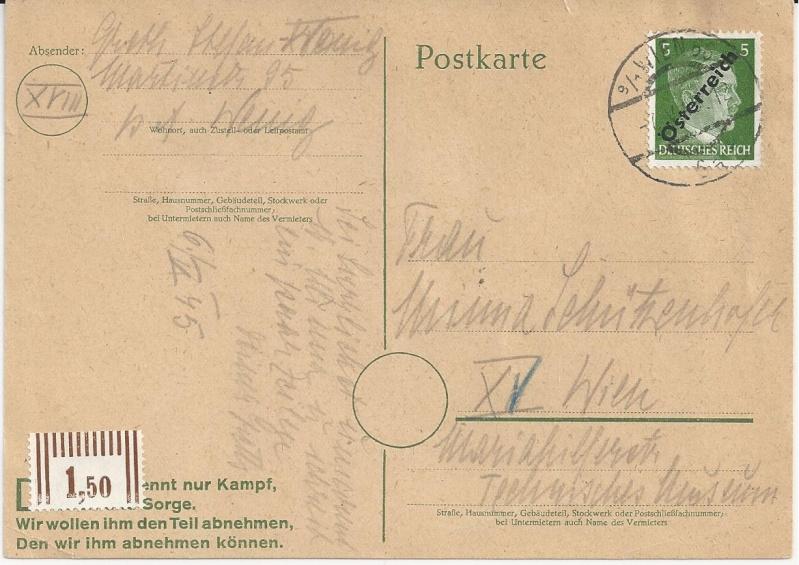 Notmaßnahmen und Provisorien bei Postkarten 1945-1948 Bild_427