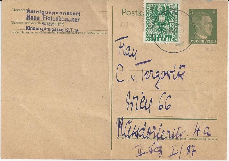Notmaßnahmen und Provisorien bei Postkarten 1945-1948 Bild_428