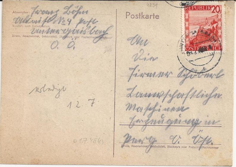 Notmaßnahmen und Provisorien bei Postkarten 1945-1948 Bild_431