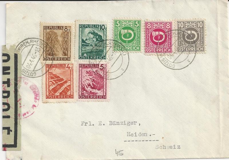 Posthornzeichnung  -  ANK 697-713  -  Belege - Seite 2 Bild_434