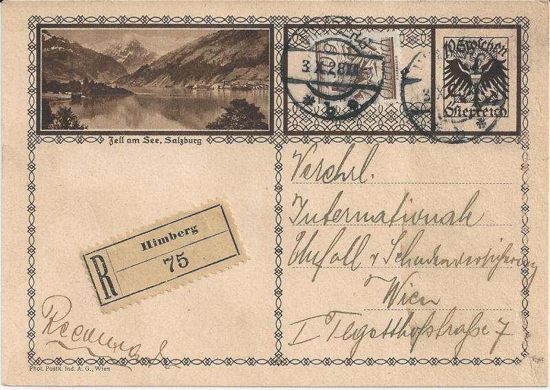 Bedarfspost Ganzsachen Österreich 1925-1938 Bild_510