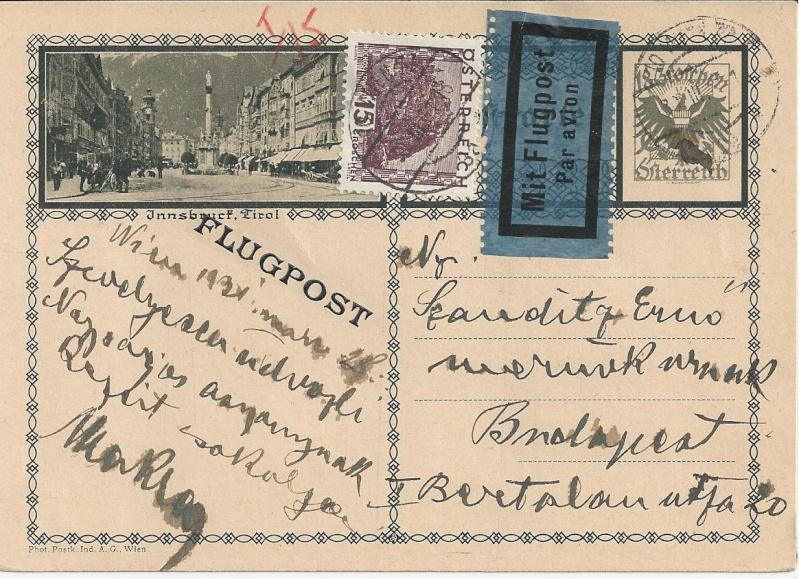 Bedarfspost Ganzsachen Österreich 1925-1938 Bild_521