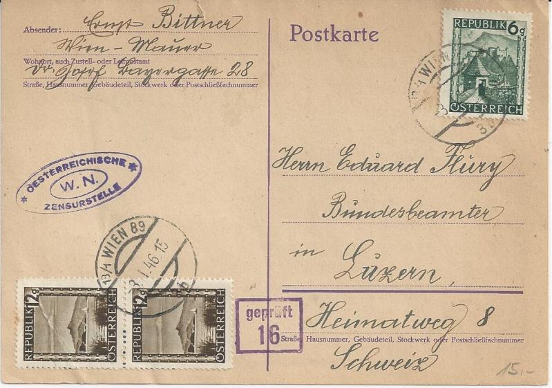 Notmaßnahmen und Provisorien bei Postkarten 1945-1948 Bild_524