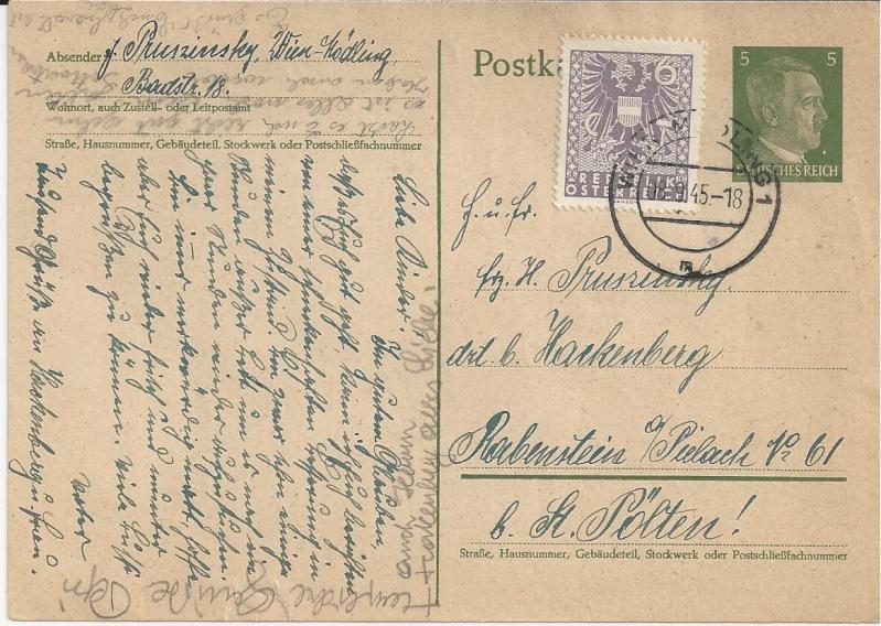 Notmaßnahmen und Provisorien bei Postkarten 1945-1948 Bild_525