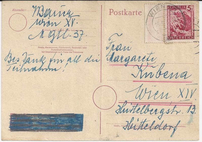 Notmaßnahmen und Provisorien bei Postkarten 1945-1948 Bild_528