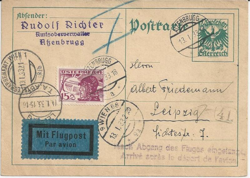 Bedarfspost Ganzsachen Österreich 1925-1938 Bild_529