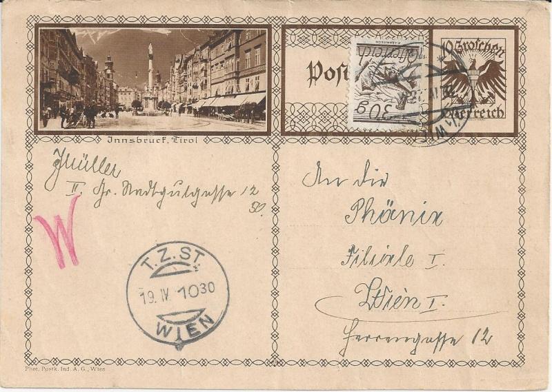 Bedarfspost Ganzsachen Österreich 1925-1938 Bild_610