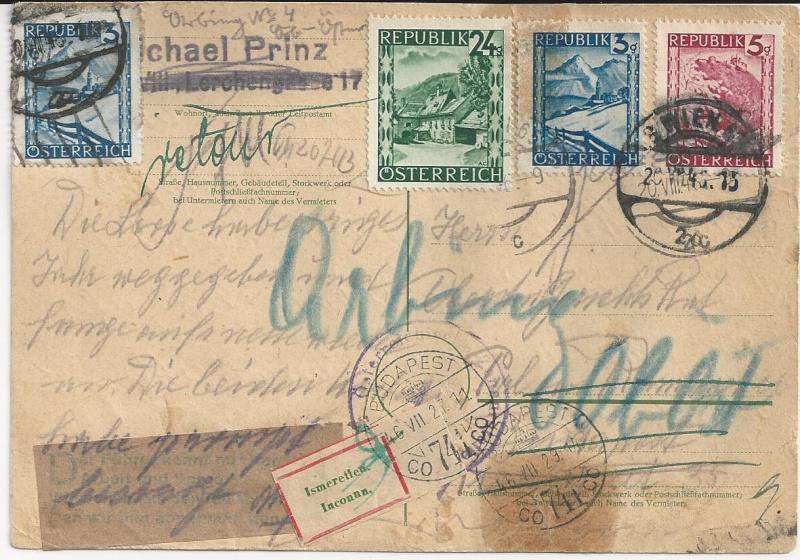 Notmaßnahmen und Provisorien bei Postkarten 1945-1948 Bild_616