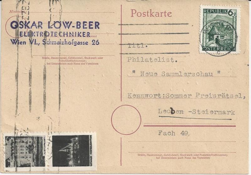 Notmaßnahmen und Provisorien bei Postkarten 1945-1948 Bild_618