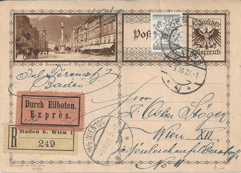 Bedarfspost Ganzsachen Österreich 1925-1938 Bild_710