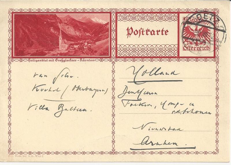 Bedarfspost Ganzsachen Österreich 1925-1938 Bild_711