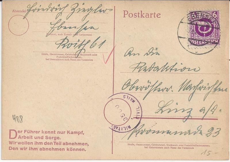 Notmaßnahmen und Provisorien bei Postkarten 1945-1948 Bild_714
