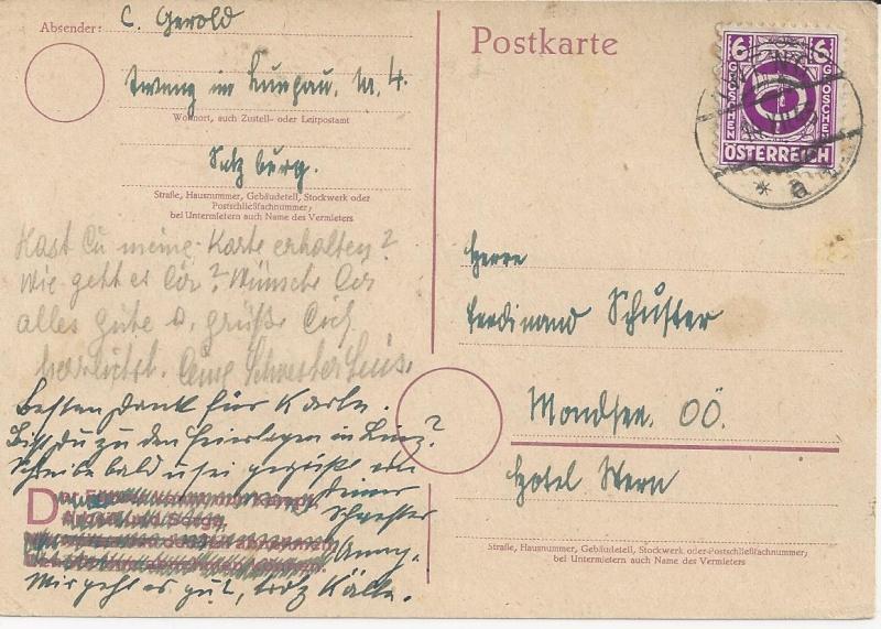 Notmaßnahmen und Provisorien bei Postkarten 1945-1948 Bild_814