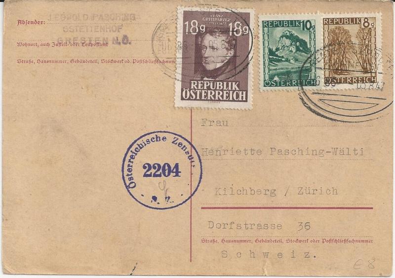 Notmaßnahmen und Provisorien bei Postkarten 1945-1948 Bild_815