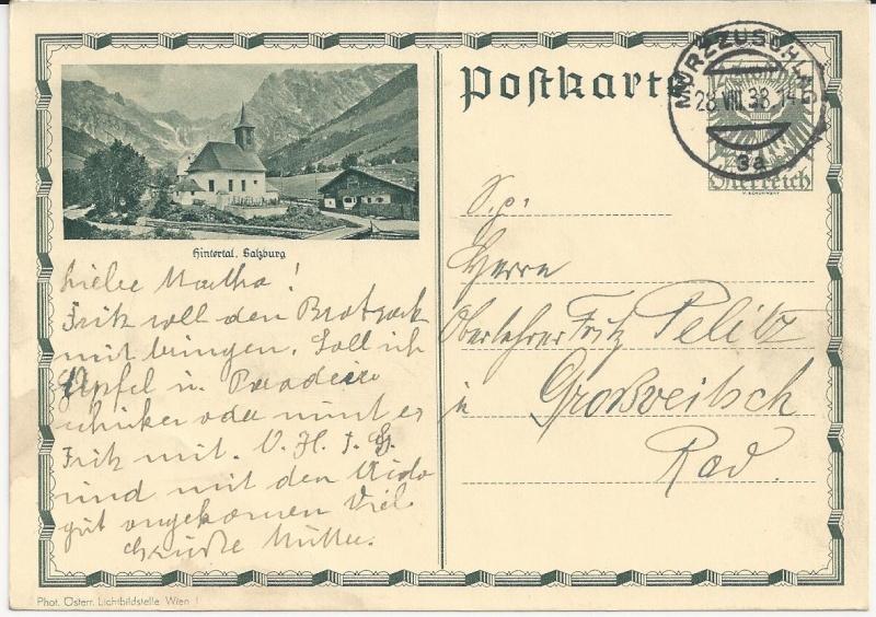 Bedarfspost Ganzsachen Österreich 1925-1938 Bild_816