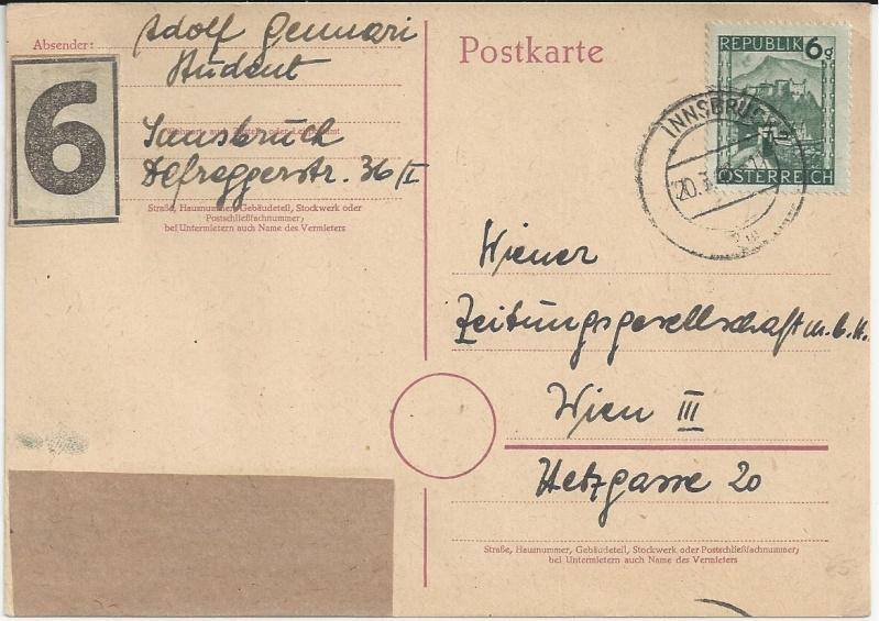 Notmaßnahmen und Provisorien bei Postkarten 1945-1948 Bild_913