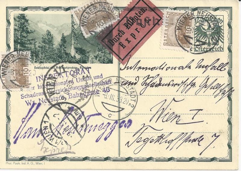 Bedarfspost Ganzsachen Österreich 1925-1938 Bild_914
