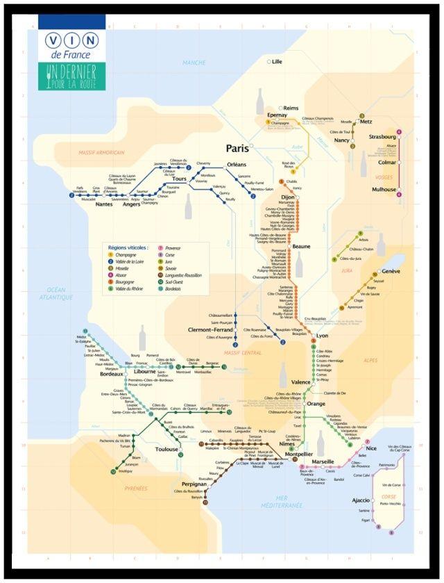 Le Vignoble Français en plan de Metro  Full10